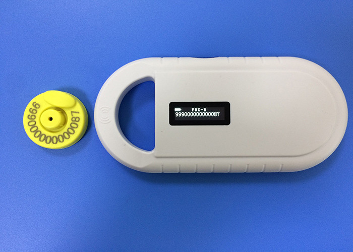 Non - Toxic TPU Cattle / Sheep Ear Tags For Livestock Management , Yellow Color