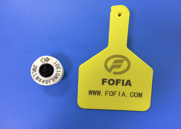 High Frequency Animal RFID Ear Tag Custom With -30°C To 50°C Operation Temp